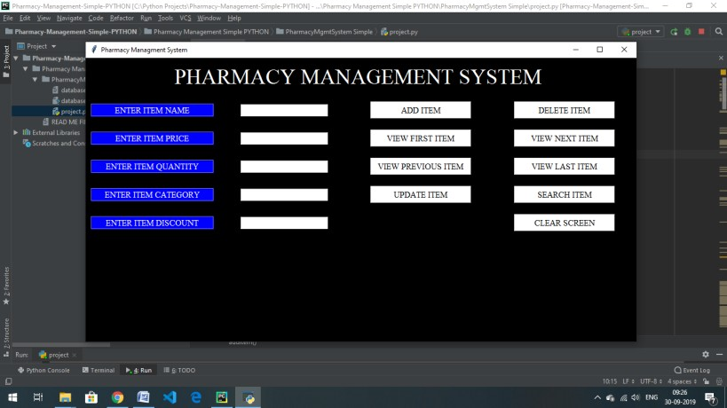 Pharmacy Management System In Python
