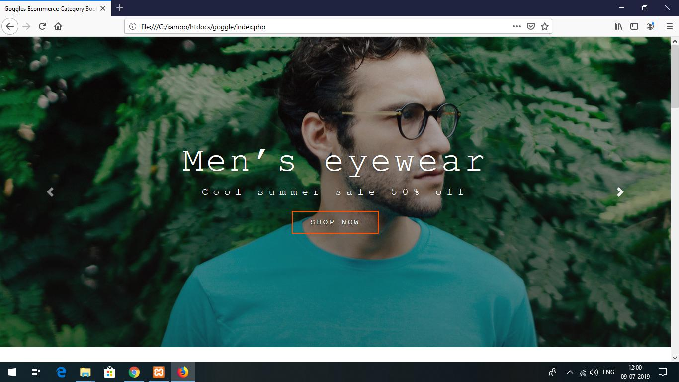 Goggle Shop Project In Php With Source Code